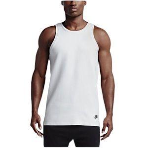 Nike Tech Fleece Tank Top Blk/White Large